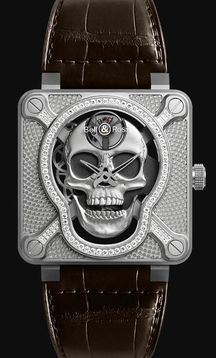 Bell & Ross BR 01 LAUGHING SKULL LIGHT DIAMOND BR01-SKULL-SK-LGD Replica Watch